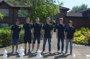 The Glorney team - Leston D'Costa, Craig Gillies, Alexander Bond, coach Hamish Olson, Lennart Koehn and Kai Pannwitz.